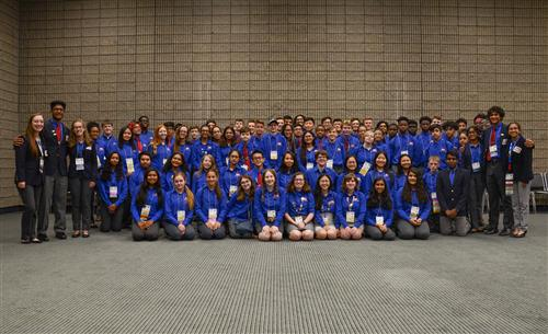 Students at national TSA conference.